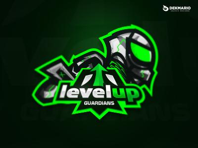 LevelUp Guardians sports sport mascot logotype logo identity guardians gaming esports design branding