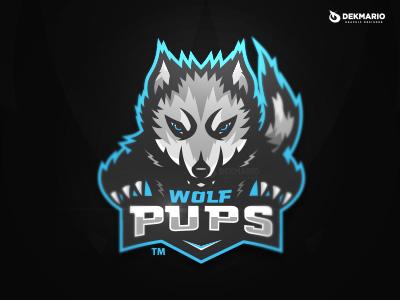 Wolf Pups wolf sports sport mascot logotype logo identity gaming esports design branding