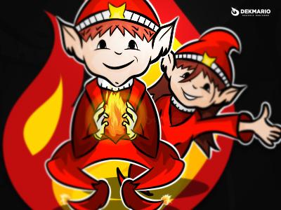 Goblins of fire sports sport mascot logotype logo identity school nursery goblins design branding