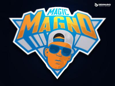 Magic Magno trap music logotype logo identity hop hip design branding