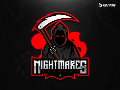 NightMares Esports death sports sport mascot logotype logo identity gaming esports design branding