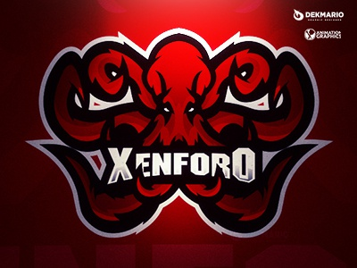 Xenforo xenforo sport mascot logotype logo identity gaming esports design branding