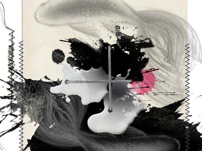 Yin&Yang... and me splatters stiches yin-yang digital collage