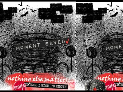 The windmill of memory (rebound) black  white black digital collage