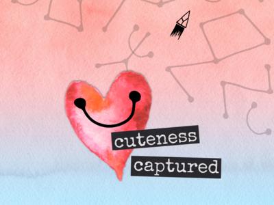 Heart matters - 1 black pink blue digital collage