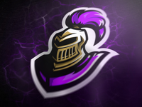 Purple knight mascot logo