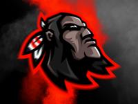 Indian warrior mascot logo