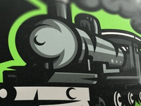 Steam locomotive mascot logo for sale.