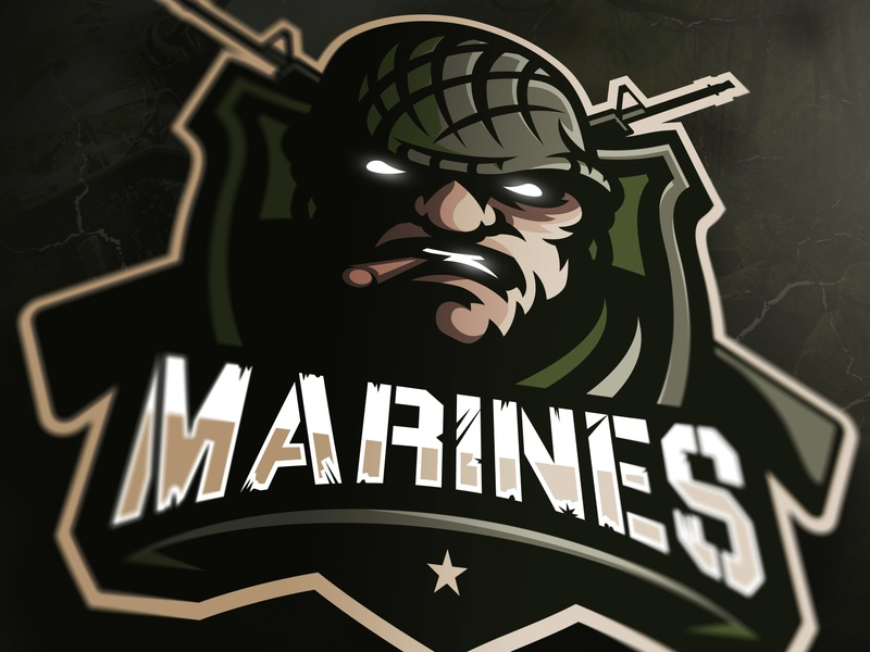 Marines Mascot logo (FOR SALE) warrior soldier gaming logo gaminglogo csgo illustration esportlogo branding sport logo design sports logo mascot logo graphic vector sport esports gaming mascot logotype