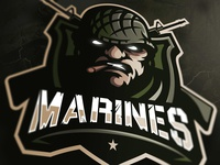Marines Mascot logo (FOR SALE)