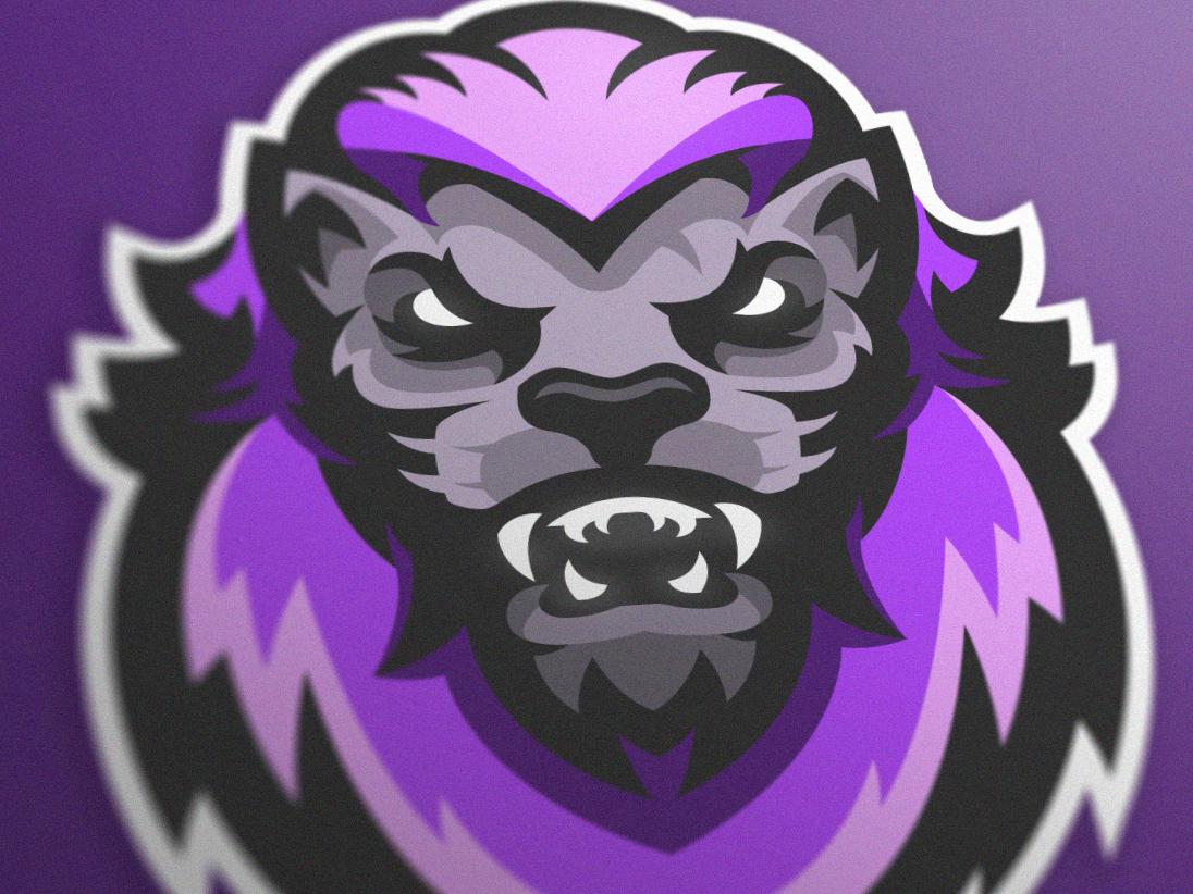 Purple Lion mascot logo (FOR SALE) gaming logo gaminglogo csgo illustration esportlogo branding sport logo design sports logo mascot logo graphic vector sport esports gaming mascot logotype