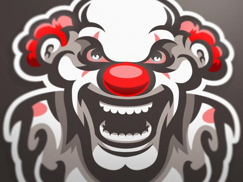 Mad Clown premade mascot logo clown gaming logo gaminglogo csgo esportlogo branding sport logo design sports logo mascot logo graphic vector sport esports gaming mascot logotype illustration