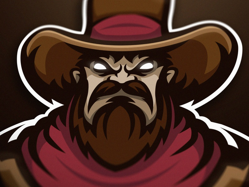 Cowboy premade mascot logo (FOR SALE) icon cowboy gaming logo gaminglogo csgo esportlogo branding sport logo design sports logo mascot logo graphic vector sport esports illustration gaming mascot logotype