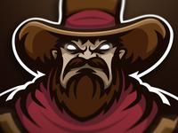 Cowboy premade mascot logo (FOR SALE)