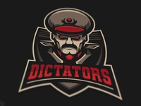Dictators mascot logo