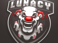 Lunacy Clown mascot logo (SOLD)