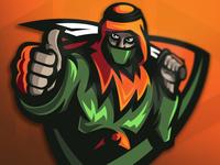 Arabian warrior mascot logo