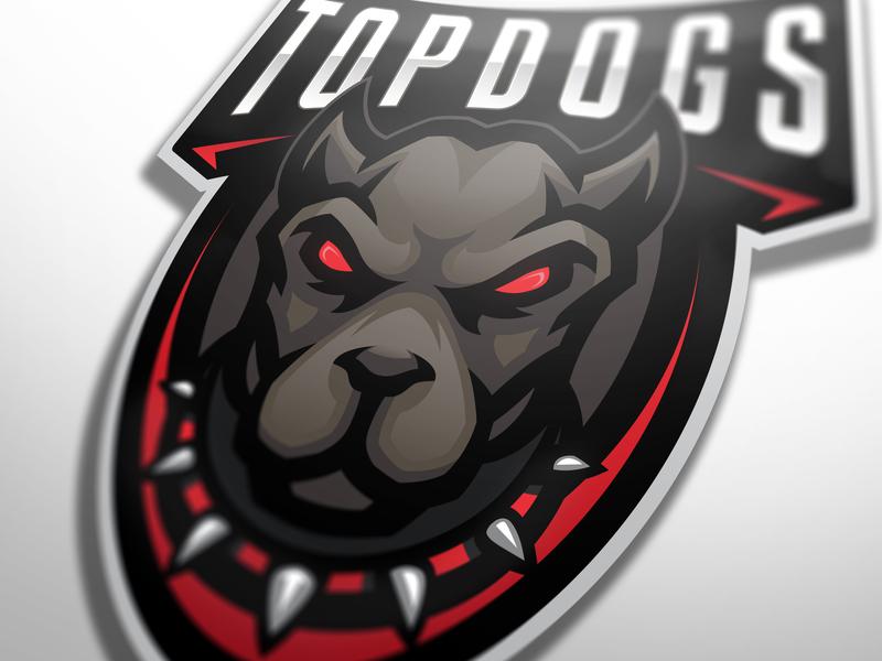 Topdogs mascot logo (FOR SALE) animal logo dog logo mbdstore gaming logo gaminglogo csgo illustration esportlogo branding sport logo design sports logo mascot logo vector sport esports gaming mascot logotype