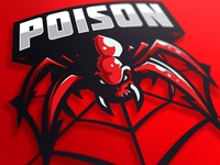Poison mascot logo