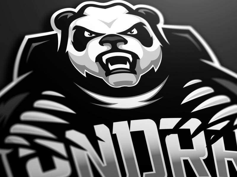 Panda mascot logo PNDRR panda bear gaming logo csgo gaminglogo branding illustration esportlogo sport logo design sports logo mascot logo graphic vector sport esports gaming mascot logotype