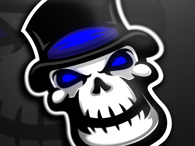 Mortis skull mascot logo
