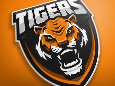 Tigers premade mascot logo (FOR SALE)