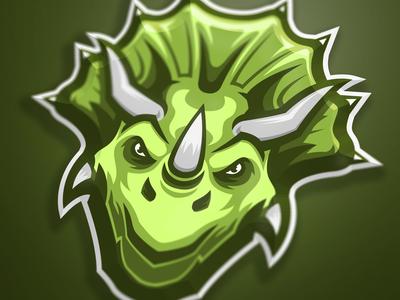 Triceratops mascot logo