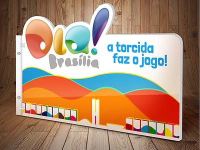 Another Logo and Mockup project ola brasilia guigo pinheiro logo world cup