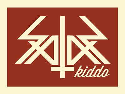 Satan Kiddo Symmetric lettering lettering symmetric satan bauhaus modern cross jesus logo illustration kiddo guigo pinheiro
