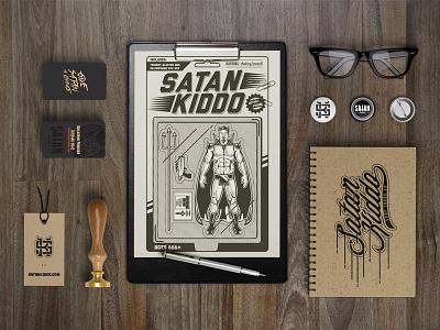 Satan Kiddo Toy satan kiddo devil monogram illustration branding box playing card scapullar