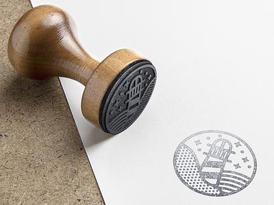 TerraFirme Lighthouse Studio branding stamp lighthouse logo vector studio