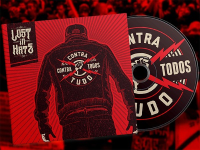 Lost in Hate - Contra tudo e contra todos cd album art hardcore straight edge vegan metal heavy metal brand illustration mockup