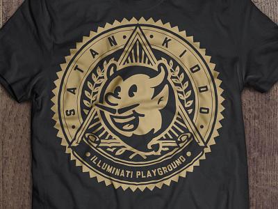 Illuminati Playground satan kiddo graphic logo brand clothing fashion branding devil demon