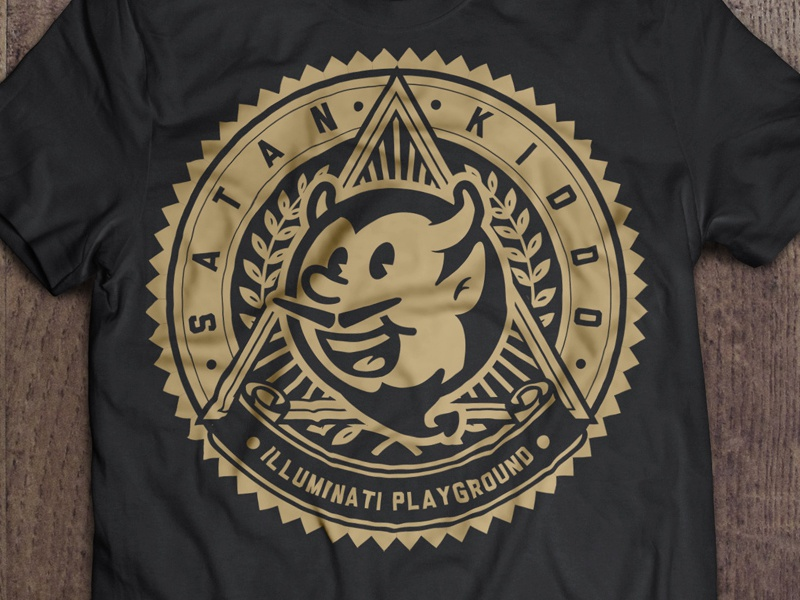 Illuminati Playground satan kiddo graphic logo brand clothing fashion branding devil demon