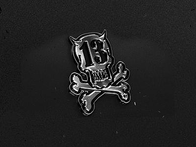 13 teeth / Satan Kiddo satan kiddo skull 13 logo metal mockup devil satan