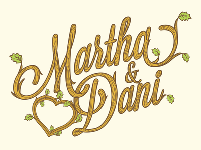 Just a marriage stuff lettering leaf wood illustration logo love marriage