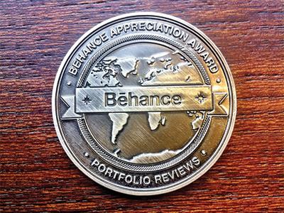 Behance Appreciation Award prize medal award reviews portfolio behance