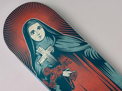 Teresa de Lisieux - Design for a skate board santa teresa de lisieux terezinha virgin mary our lady saint