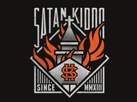 Burning Church - Satan Kiddo clothing branding anti christ satanic satanism devil logo fire burning church satan kiddo