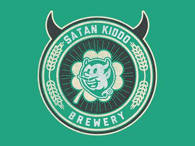 Satan Kiddo Brewery branding illustrator icon chopp brewery devil beer kiddo satan