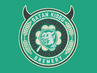 Satan Kiddo Brewery branding illustrator icon chopp brewery devil beer kiddo satan