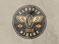 Classic Riders Distrito Federal seal circle patch logo riders classic