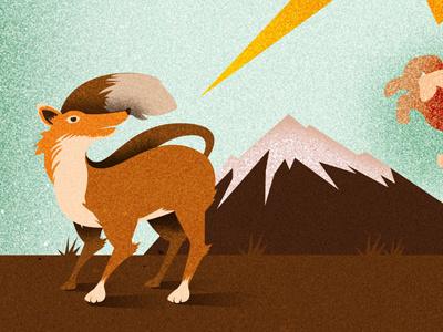 Texture Shadows... Working on fox texture ray illustration guigo pinheiro