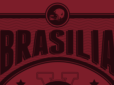 Brasilia V8 Football Team shirt stamp football v8 brasilia guigo pinheiro
