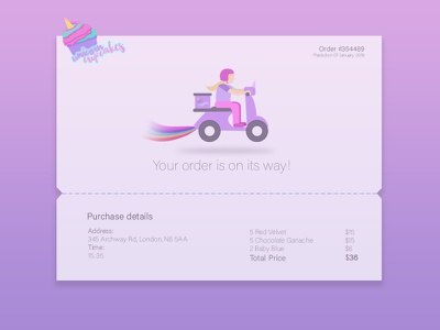 DailyUI #017 Email Receipt illustration email receipt dailyui 017 daily ui design dailyui