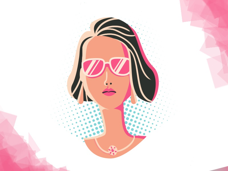 Cool Girl dribbble characterdesing adobe simple design art illustration character 2d art girl