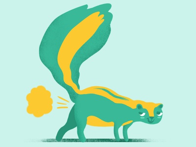 Skunk for Funnymals fart sticker funny skunk