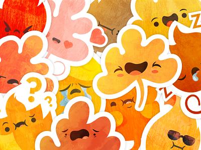 Leafmoji iOS Sticker Pack messaging apple autumn fall imessage leaves leaf leafmoji sticker sticker pack ios