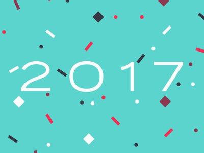 2017 Good Vibes new year celebrate colorful confetti ding dong 2016 is dead 2017 background wallpaper iphone