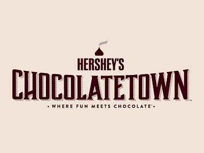 Hershey's Chocolatetown Logo hershey sweet wordmark logotype logomark typography branding chocolate brand mark type logo design design logo